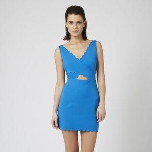 TOPSHOP Scallop Cut-out Bodycon Dress